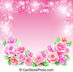 Greeting card with roses