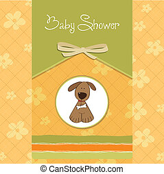 greeting card with small dog