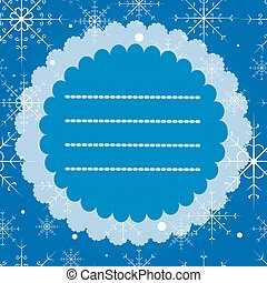 Greeting card with snowflakes. Merry Christmas and Happy New...