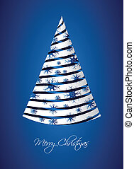 greeting card with special Christmas tree