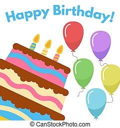 Sweet Cake for Birthday Celebration