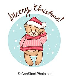 greeting card with teddy