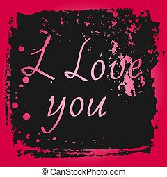 greeting card with text i love you
