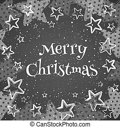 Greeting card with text Merry Christmas