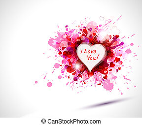 The Valentine's day - greeting-card with The Valentine's day