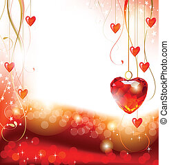 greeting-card with The Valentine's day