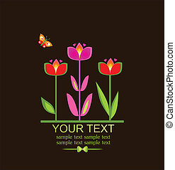 Greeting card with tulip
