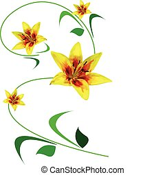 Greeting card with yellow flowers