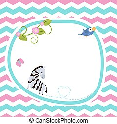 Greeting card with zebra.