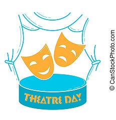 Greeting card  World Theatre Day