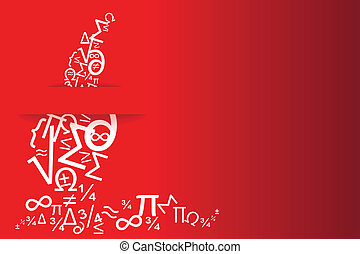 greeting cards and invitation card science degree on a red...