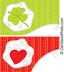 Greeting cards - luck, love