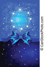 Greeting cards with blue bows.
