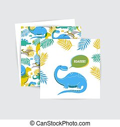 Greeting cards with dinosaur
