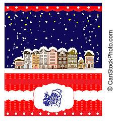 Greeting Christmas card, humor