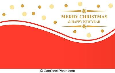 Greeting Christmas card with balls