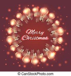 Brazil june party greeting card festive garlands brazil june greeting christmas card with festive garlands of light bulbs m4hsunfo