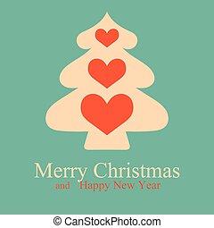 Greeting Christmas & New Year card