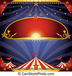 greeting circus flyer - A greeting invitation for your show