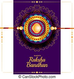 greeting design for raksha bandhan traditional festival