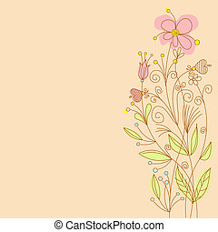 Greeting flowers card