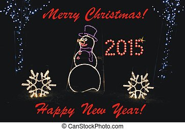 Greeting for Christmas and New Year