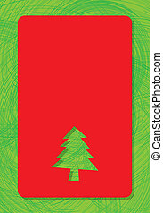 Greeting for text with christmas tree