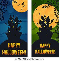 Moonlight banners vertical set  Moonlight vertical banner