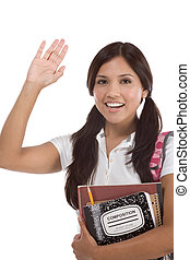 greeting Hispanic College student