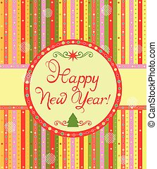 Greeting label for New Year