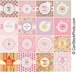 Greeting labels for Mother's day