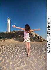 greeting lighthouse