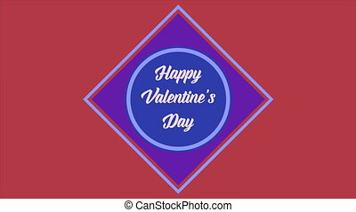 Greeting of animation for valentine day collection