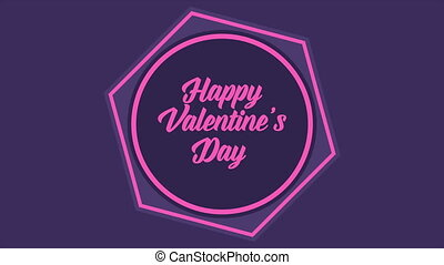 Greeting of animation for valentine day