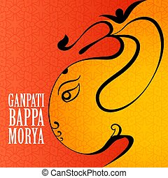 greeting of ganesh chaturthi festival design