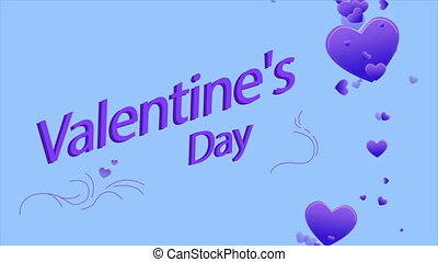 Greeting of Valentine day with animation heart