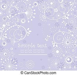 Greeting pastel blue card