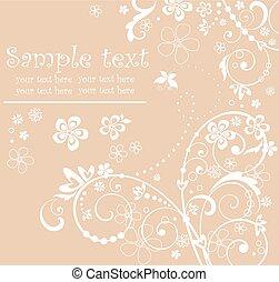 Greeting pastel card