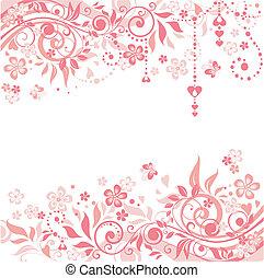 Greeting pink banner