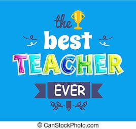 Greeting Postcard for Teacher Professional Holiday - The...