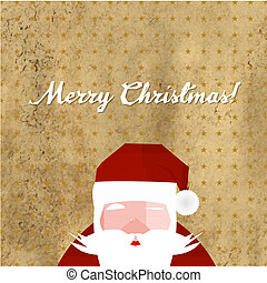 Greeting Retro Card With Santa Claus
