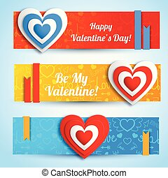 Greeting Romantic Horizontal Banners