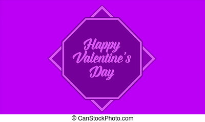 Greeting shape animation for happy valentine day collection