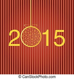 Greeting template for the New year. Vector.