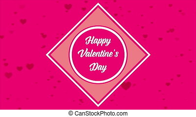 Greeting valentine day with animation love collection