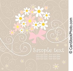 Greeting wedding card