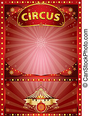 Greeting xmas circus poster - A circus poster for christmas...