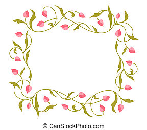Greetings card for holiday with stylized floral pattern vector illustration.