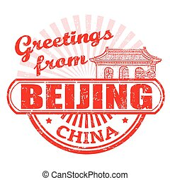 Greetings from Beijing stamp