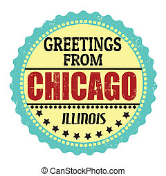 Greetings from Chicago label